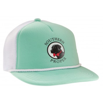 Old Pro Hat: Seafoam and White